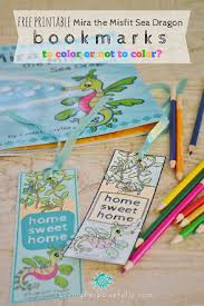 I'm so excited to share these printable coloring bookmarks with you! Mira The Misfit Sea Dragon Printable Activity Pack Free Living Porpoisefully