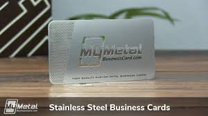 Stainless Steel Business Cards Stainless Steel Metal Business Cards My Metal Business Card