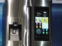 samsung tv refrigerator. just like a number of samsung\u0027s previous takes on the smart fridge, family hub samsung tv refrigerator i