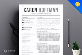 Modern Resume Design Adorable Modern Resume Template Resume Templates Creative Market