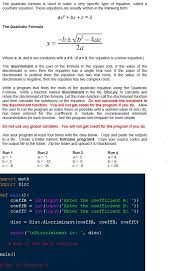 quadratic formula is used to solve