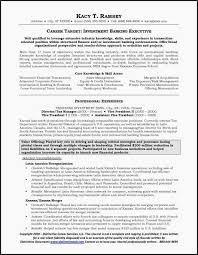 Investment Banking Resume Example New Investment Banking Resume Extraordinary Investment Banking Resume