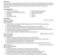 Free Resume Software Extraordinary Software Developer Resume Sample Templates Stirring Summary Example