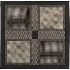 safavieh courtyard collection cy1928 3908 black and sand indoor outdoor square area rug
