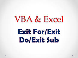 Vba Excel Lesson 4 Exit For Exit Do Exit Sub Youtube