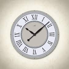 impressive white modern wall clock  modern black and white wall