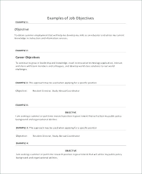 Professional Resume Objective Statement Career Examples Mmventures Co