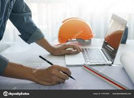 architect office supplies. Architect Office Supplies. Working With Sketch On Blueprint Of Construction In Office, Computer Supplies T