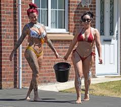 Jemma Lucy and Laura Alicia Summers in Bikini – Car Washing in Manchester |  GotCeleb