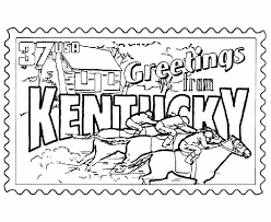 Small Picture Kentucky State Stamp Coloring Page USA Coloring Pages