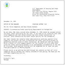 Sample Respa Letter Template Of Va Mortgages Sample Va Mortgage Note