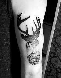 90 Deer Tattoo Pro Muže Manly Venkovní Vzory