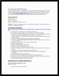 100 Cosmetology Resume Templates Free Resume Successful