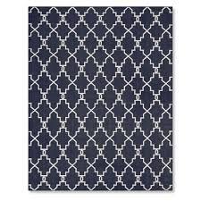 moroccan gate indoor outdoor rug 6x9 navy