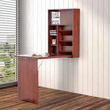home office picture. HOMCOM Wall-mounted Desk Fold Out Convertible Table Shelf Office Mahogany Home Picture