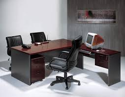 work tables office. Captivating Office Room With L- Shape Desk Also Three Contemporary Chairs In Black Work Tables R