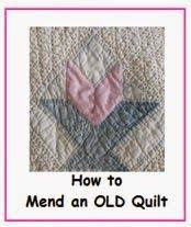Repairing a hole in a quilt (I hope you never have to do this ... & The Quilt Ladies Book Collection: How to Repair an OLD Quilt - Making an OLD Adamdwight.com