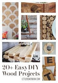20 easy diy wood projects littleredwindow com