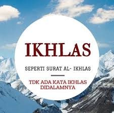 Image result for ikhlas