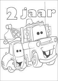 Kleurplaten Cars Verjaardag Takel 2 Cars Kleurplaten