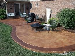 stained concrete patio concrete stain