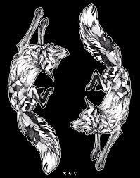 Tattoo Sketch Dotwork Fox Sketches