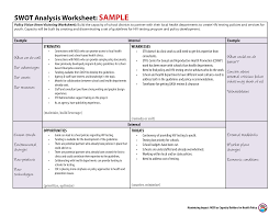pre work owtcocla sample swot analysis example