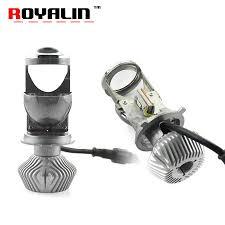 <b>ROYALIN H4 9003</b> Bi LED <b>Mini</b> 1.5 inch Projector Headlights Full ...