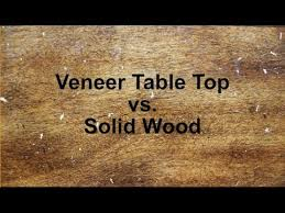 to repair damaged veneer on a table top