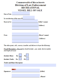 bill of sale template ma free massachusetts boat bill of sale form pdf word doc