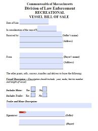 bill of sale template ma free massachusetts boat bill of sale form pdf word doc
