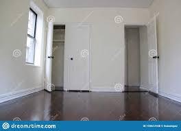 Image Closetmaid Empty Apartment Room With Dark Floors And Closet Door Open Two Close Sunlight In The Room Dreamstimecom Empty Apartment Room With Dark Floors Stock Photo Image Of Dark