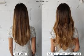 Clip In Hair Extension Length Chart How To Choose The Right Thickness Of Hair Extensions Luxy Hair