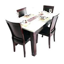 4 seater glass dining table small round