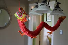 interior cool chinese new year party decorations with hanging chinese dragon paper craft fascinating