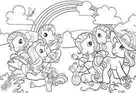 Ponies Coloring Pages Marvelous Ponies Colouring Pages My Little