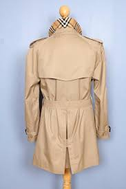 mens burberry bespoke short trench coat mac uk usa 38 medium stunning