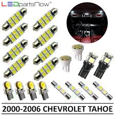 2006 Chevy Silverado Bulb Chart Ledpartsnow Interior Led Lights Replacement For 2000 2006 Chevy Tahoe Accessories Package Kit 20 Bulbs White