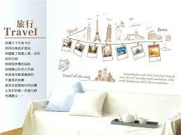 travel themed wall decor surprising room decorating bedroom ideas 31