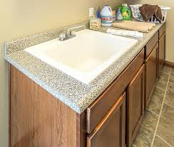 laundry sink and faucet typhoon ice countertop valencia laminate countertops customize