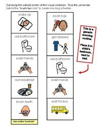 Visual Schedule For Home Morning Routine