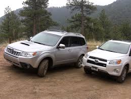 2011 Toyota RAV4 vs Subaru Forester muddy mashup review - YouTube