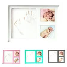 baby hand and footprint kit baby footprint picture frame kit memories keepsake shower gift baby hand