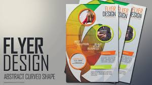 How To Design A Flyer In Photoshop Photoshop Tutorial Abstract Curved Shape Flyer Design