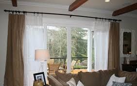 curtains for double patio doors sliding glass door curtains ideas