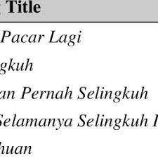 Sedangkan untuk music video dan liriknya, bisa kamu saksikan melalui konten di bawah ini! Pdf Malay Pop Mass Media Hegemony In Indonesia Popular Music