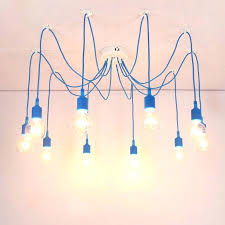 colorful ceiling light retro spider chandelier lighting pendant lamp 3 to head multi colored silicone for bar restaurant bedroom in