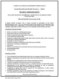 Psychiatric Nurse Cover Letter 20 Mental Health.
