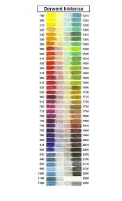 Inktense Color Chart With And Without Aloe Vera I Assume
