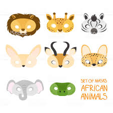 Ensemble Dillustration De Masques De Carnaval Dafrique Animale Lion Girafe  Zèbre Fenech Antilope Serval Éléphant Crocodile Vecteurs libres de droits  et plus d'images vectorielles de Afrique - iStock
